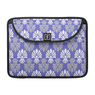 Indian Block Print Floral Pattern - Blue Sleeve For MacBooks