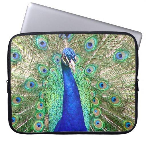 Indian Blue Peacock Laptop Sleeve