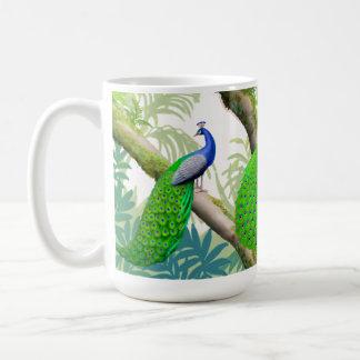Indian Blue Peafowl Jungle Mug