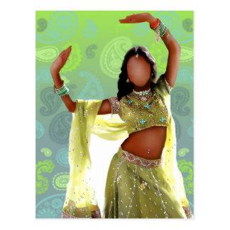 Indian Bollywood Girl Postcard II