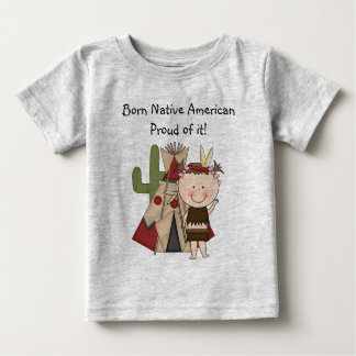 Indian Boy Native American Born T - Shirt