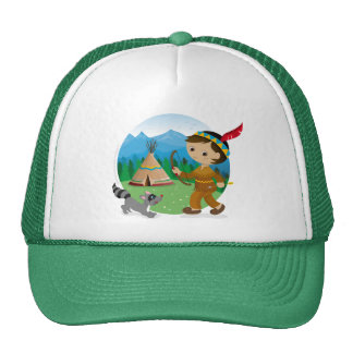 Indian boy trucker hat