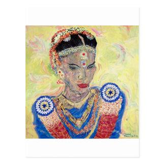 Indian Bride 1999 by Elizabeth Bloomfield Postcard