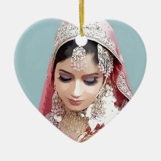 Indian bride ceramic ornament