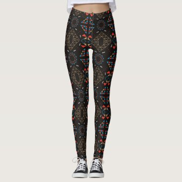 Aztec Themed Indian Brown Aztec Woman Leggings