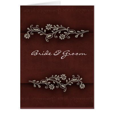Easily customize this Indian inspired wedding card with your own text