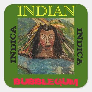 INDIAN BUBBLEGUM INDICA SQUARE STICKERS