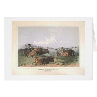 """Indian Buffalo Hunt: """"Close Quarters"""" (0743A) Card"""