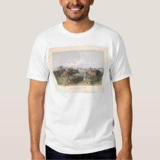 "Indian Buffalo Hunt: ""Close Quarters"" (0743A) T Shirt"
