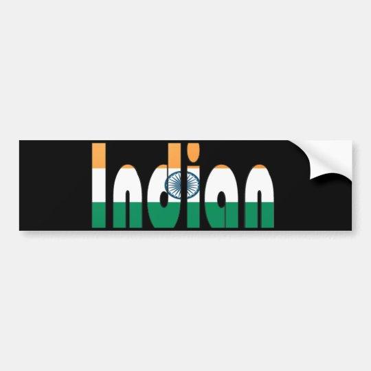 indian bumper sticker