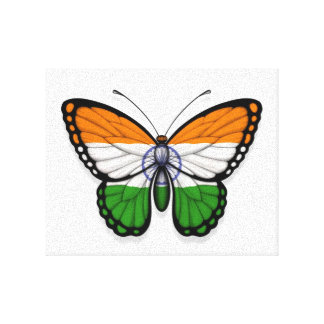Indian Butterfly Flag Canvas Print