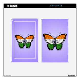 Indian Butterfly Flag on Purple Skin For Kindle Fire