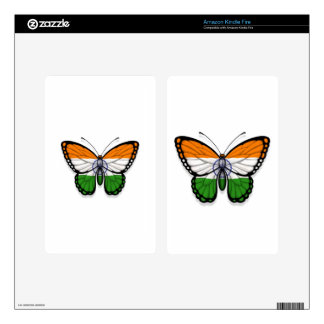 Indian Butterfly Flag Kindle Fire Decal