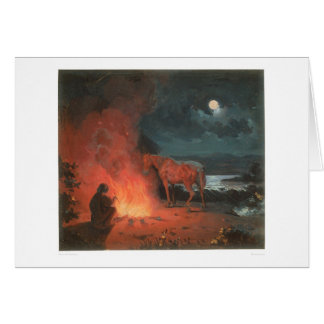 Indian by a Campfire (0744A) Card