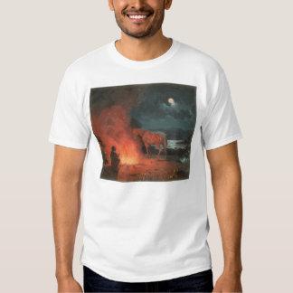 Indian by a Campfire (0744A) T Shirt