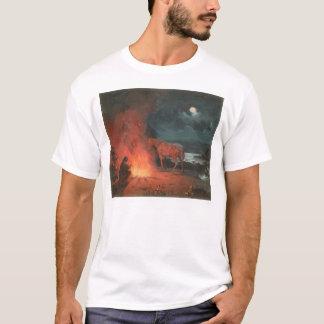 Indian by a Campfire (0744A) T-Shirt