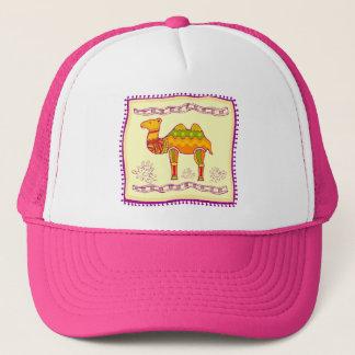Indian Camel Quilt Trucker Hat