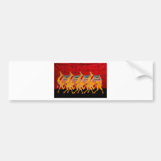 INDIAN CAMELS BATIK PAINTING BUMPER STICKER