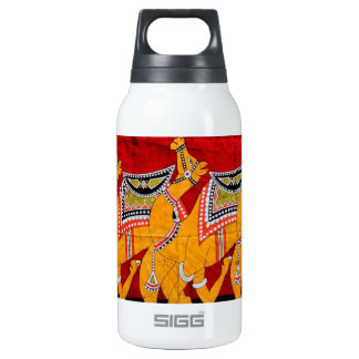 INDIAN CAMELS BATIK PAINTING THERMOS WATER BOTTLE