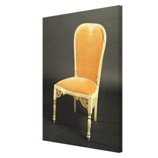 Indian chair, c.1820 canvas print