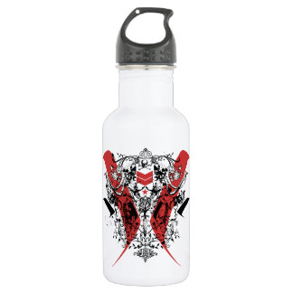 Indian chevron art stainless steel water bottle