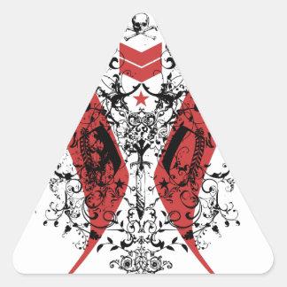 Indian chevron art triangle sticker