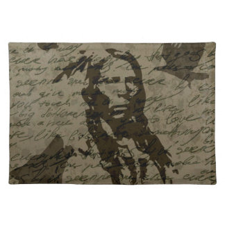 Indian chief cloth placemat
