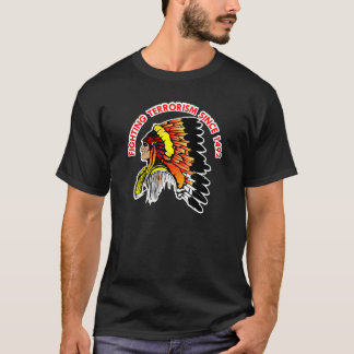 Indian Chief Fighting Terrorism Black T-Shirt