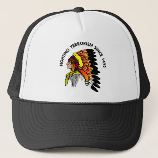 Indian Chief Fighting Terrorism Trucker Hat