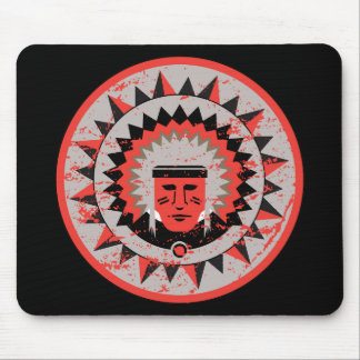 Indian Chief Grunge Mouse Pad