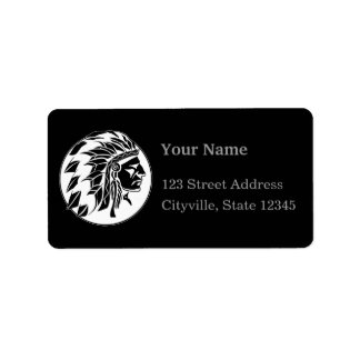 Indian Chief Head B Label