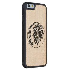 Indian Chief Head Carved Maple Iphone 6 Bumper Case at Zazzle