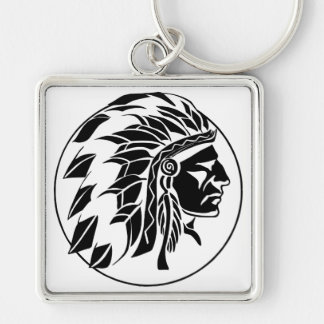 Indian Chief Head Key Chain