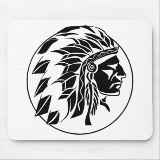 Indian Chief Head Mousepads