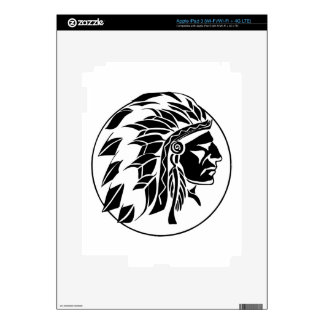 Indian Chief Head Skins For iPad 3