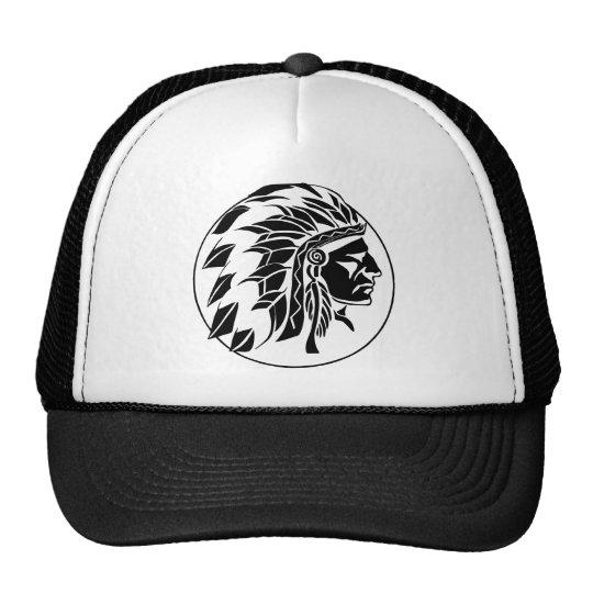 Indian Chief Head Trucker Hat