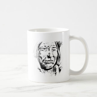 Indian Chief Ink Sketch Motivational Coffee Mug