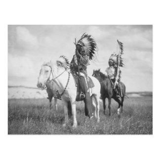 Indian Chief on Horseback, 1905 Postcard
