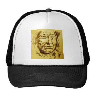 Indian Chief Pencil Sketch Trucker Hat