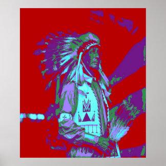 Indian Chief Pop Art Poster
