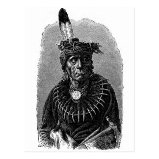 Indian Chief Post Card