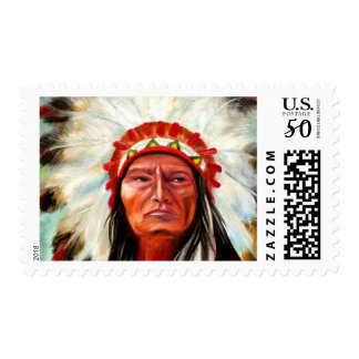 Indian Chief Postage Stamp