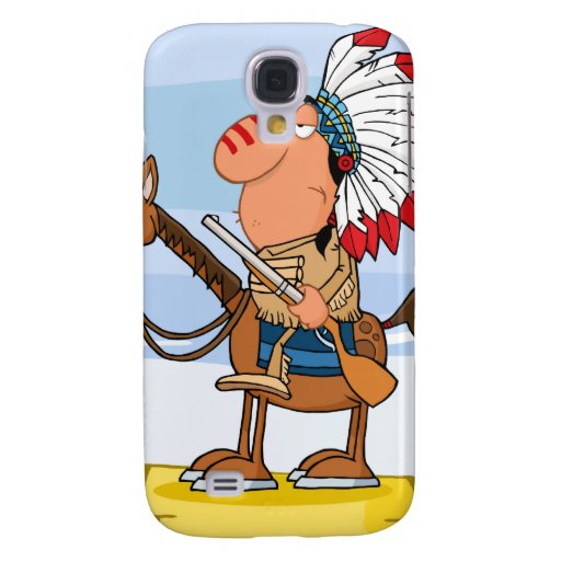 Indian Chief With Gun On Horse HTC Vivid Covers