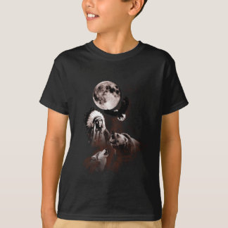 Indian Chief - Wolf - Moon - Bear - Eagle T-Shirt