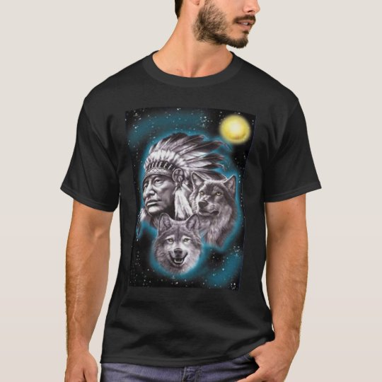 Indian Chief & Wolves Shirt