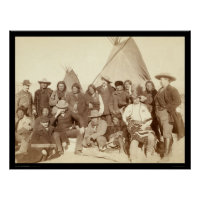 Indian Chiefs & US Officials SD 1891 print