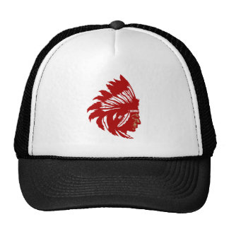 Indian chieftain head native American chief head Trucker Hat