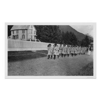 Indian Children Sitka, Alaska 1922 Print