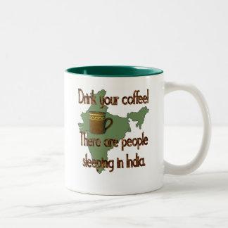 Indian Coffee People Two-Tone Coffee Mug