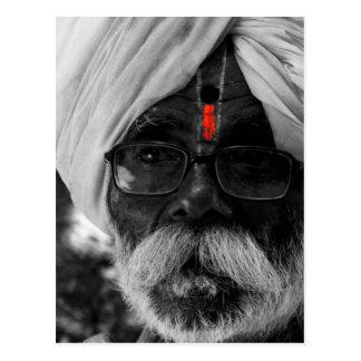 Indian Common man Postcard